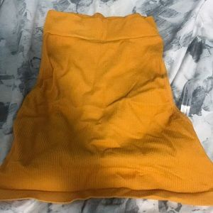Orange urban outfitters crop top